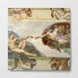 """Michelangelo """"Creation of Adam"""" Metal Print"""
