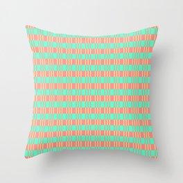Basketwork Pattern Pastel Colors Throw Pillow