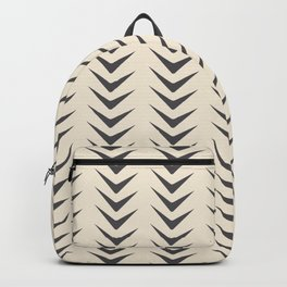 Cocoa Bisque Chevron Line Mid-Century Shapes Backpack