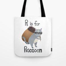 R is for Raccoon Tote Bag