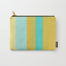 An occassional concoction of Macaroni And Cheese, Medium Turquoise, Pale Turquoise and Dark Cream vertical stripes. Carry-All Pouch