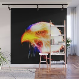 bald eagle 03 neon lines bright Wall Mural