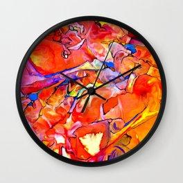 Fire Opal Impressions Wall Clock
