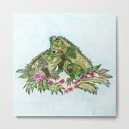 Las Iguanas Metal Print