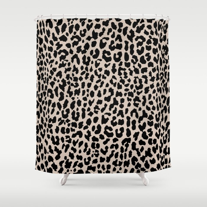 Tan Leopard Shower Curtain By Mstudio