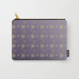 Ginkgo Purple Gold Carry-All Pouch