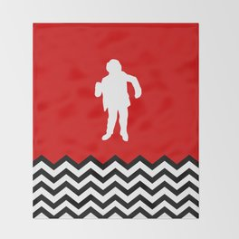 Black Lodge Dreams: Man From Another Place (Twin Peaks) Throw Blanket