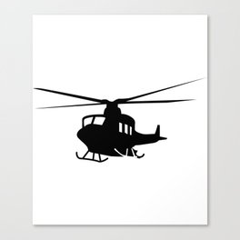 War Helicopter Silhouette Canvas Print