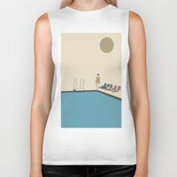 swimming Biker Tanks featuring Swimming by Jarom Ward