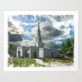 Sacramento California LDS Temple Art Print