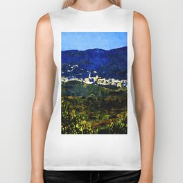 Calabria landscape with Catanzaro city and Sila mountain Biker Tank