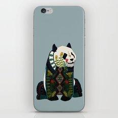 panda silver iPhone & iPod Skin