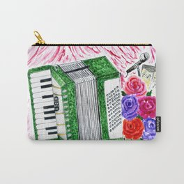Accordion with roses Carry-All Pouch
