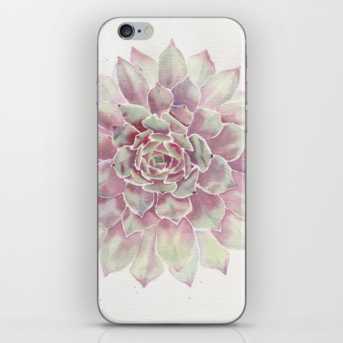 Big Succulent Watercolor iPhone Skin