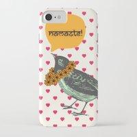 namaste iPhone & iPod Cases featuring Namaste! by Sreetama Ray