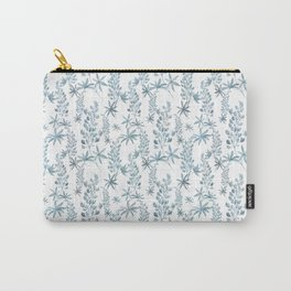 Winter patterns in blue. Carry-All Pouch