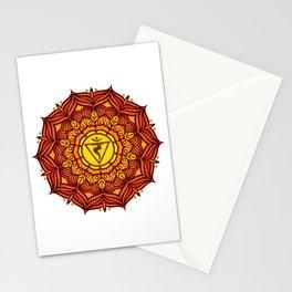 Solar Plexus Mandala Chakra #01 Stationery Cards