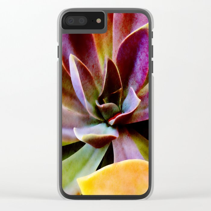 Spectacular Succulents Clear iPhone Case