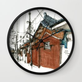 vintige city_seoul 17820 Wall Clock