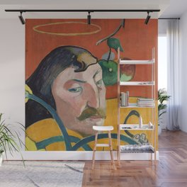 "Paul Gauguin ""Self-Portrait with Halo and Snake"" Wall Mural"