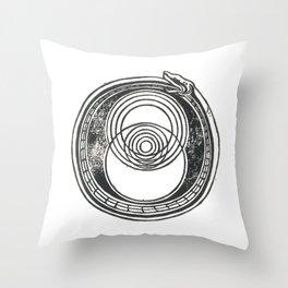 Space-Time Atom Throw Pillow