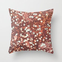 Beautiful White Petaled Flowers Throw Pillow