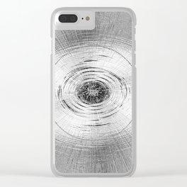 Metallic Swirl Clear iPhone Case