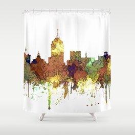 Fresno, California Skyline SG - Safari Buff Shower Curtain