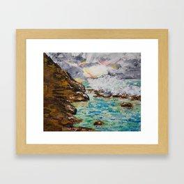 SUNRISE AT BURLEIGH HEADS Framed Art Print