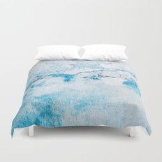 blue wall Duvet Cover