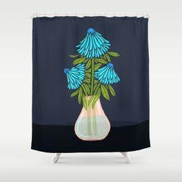 Blue Echinacea Shower Curtain