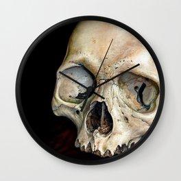 moldy tan skull Wall Clock