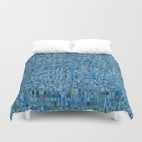 pacific rim Duvet Covers featuring Pacific by Tofu