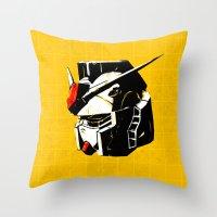 gundam Throw Pillows featuring RX-78-2 by Bertrand Nadal