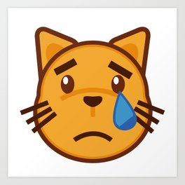 funny cat face Art Print