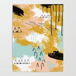 Presence of Life, Abstract Tribal Art Poster