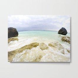 Boracay Rocks by the Beach Metal Print