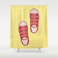 dorothy Shower Curtains featuring dorothy  by freshinkstain
