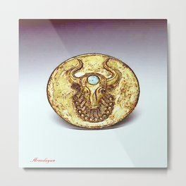 Third Eye Turquoise bull  Metal Print