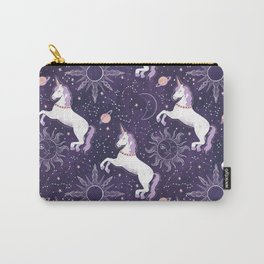 Zodiac Space Unicorn Carry-All Pouch