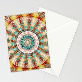 Southwestern Turquoise Orange Mandala Stationery Cards