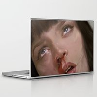 pulp fiction Laptop & iPad Skins featuring pulp fiction  by Islawillbaby