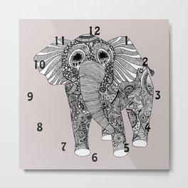 elephant clock Metal Print