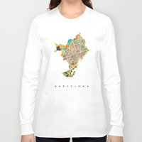 barcelona Long Sleeve T-shirts featuring Barcelona by Nicksman