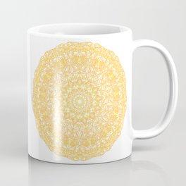 Mandala 13 / 1 yellow Citrine Coffee Mug