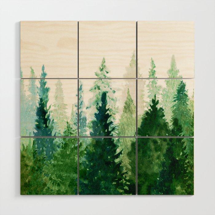 Pine Trees 2 Wood Wall Art By Nadja1