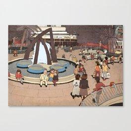 Dizengoff Square in The 80s Canvas Print