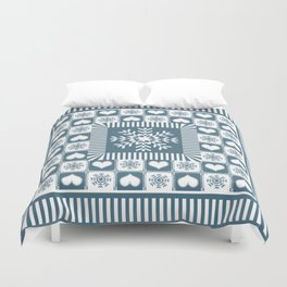 Winter Snowflake Christmas Pattern Duvet Cover