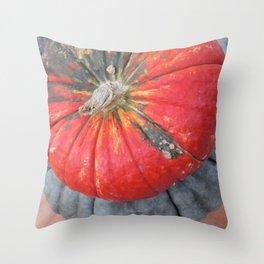 pumpkin pile Throw Pillow