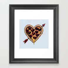 Pizza Love Framed Art Print